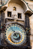 Clock with figures on the Town Hall in Prague Stock Photography
