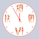 clock fiten Royaltyfri Bild