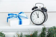 The clock at five minutes to twelve Stock Photography