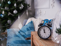 The clock at five minutes to twelve Royalty Free Stock Photo