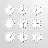 Clock flat icon app vector illustration. Royalty Free Stock Images