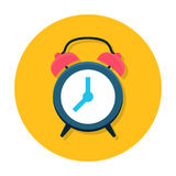 Clock flat icon royalty free stock images