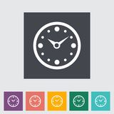 Clock flat icon. Stock Photo