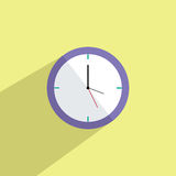 Clock Flat Icon Vector Illustration. Clock Modern Flat Design Icon Vector Illustration Royalty Free Stock Images