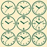 Clock flat icon. World time concept. Royalty Free Stock Photos