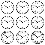 Clock flat icon. World time concept. Stock Photography