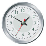 Clock flat icon. World time concept. Royalty Free Stock Photo