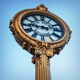 Clock in Flatiron district Royalty Free Stock Photo