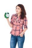 clock flickan Royaltyfri Foto