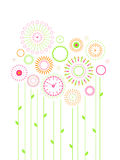 Clock flowers Stock Images
