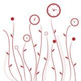Clock flowers Stock Photography