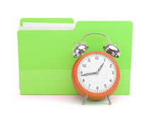Clock and Folder Concept Stock Photos