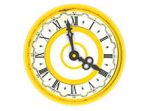 Clock. Four o'clock Royalty Free Stock Images