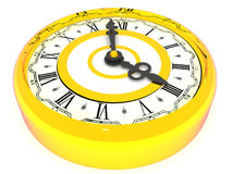 Clock. Four o'clock. 3d. Very beautiful three-dimensional illustration, figure Stock Photography