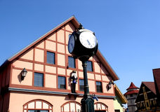 Clock in Frankenmuth downtown Royalty Free Stock Photography