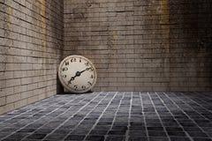 clock gammalt Arkivfoton