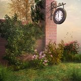 Clock in the garden Stock Image
