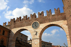 Clock gate, Verona Royalty Free Stock Images