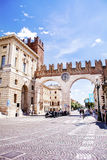 Clock gate in Verona,Italy Royalty Free Stock Photography