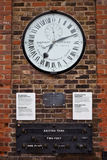 Clock at the gates of Royal Observatory in Greenwi Royalty Free Stock Photo