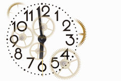 Clock And Gears Royalty Free Stock Image