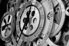 Clock and gears Royalty Free Stock Photo