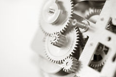 Clock gears. On white background Stock Photography