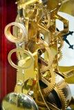 Clock gears 2. Close up shot of golden clock gears stock image