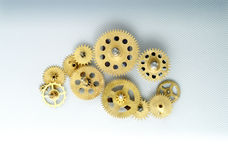 Clock gears. Sincronization on gears of a clock Stock Image