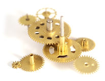 Clock gears. Sincronization on gears of a clock Stock Photography