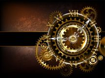 Clock with gears Royalty Free Stock Photos