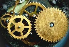 Clock gears. Close up of clock gears royalty free stock photos