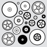 Clock gears, vector  Royalty Free Stock Images