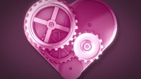 Clock gears in heart shape Royalty Free Stock Photography