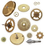 Clock gears mechanism isolated Royalty Free Stock Photo