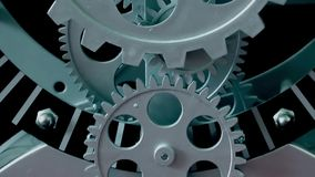 Clock Gears stock footage