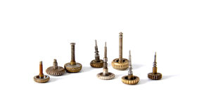 Clock gears on a white background. Picture of an Old Clock gears on a white background Stock Images
