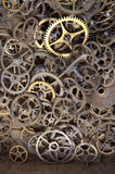 Clock gears on a white background. Picture of an Old Clock gears on a white background Royalty Free Stock Image