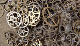 Clock gears on a white background. Picture of an Old Clock gears on a white background Royalty Free Stock Photos
