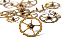 Clock gears on a white background Royalty Free Stock Image