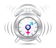 Clock gender symbol Royalty Free Stock Photo