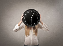 Clock Girl Stock Photography