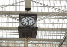 The clock of  Glasgow Central train station. Stock Image