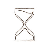 Clock glass sand business clock money sketch. Illustration eps 10 Royalty Free Stock Photo