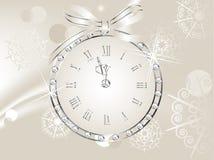 Clock in globe Stock Photography