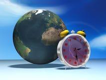 Clock and globe Royalty Free Stock Photo