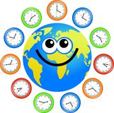 Clock globe Stock Image