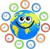 Clock globe Stock Image