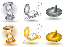 Clock glossy icon Stock Photography