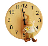 Clock and gnome Royalty Free Stock Photography